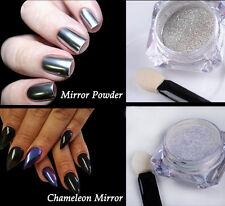2Boîte Mirror poudres Pailletés Chromé Nail Art Décoration Manicure Pigment