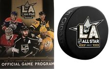 2017 ALL STAR GAME NHL PROGRAM & PUCK - SOUVENIR STYLE  NATIONAL HOCKEY LEAGUE