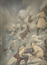 K0985 Nel Caucaso i sovietici attaccano i tedeschi provocando frana_Stampa ant.