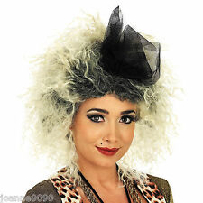 80s EIGHTIES POP STAR MADONNA BOW WIG POP STAR FANCY DRESS COSTUME ACCESSORY