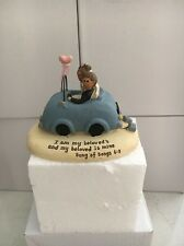 Wedding Ornament Cake Topper Bride & Groom In Car