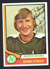 Dennis O'Brien #96 signed autograph auto 1974-75 Topps Hockey Trading Card