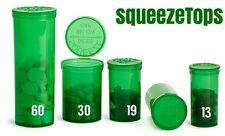 100 Green Squeeze Pop Top 30 Dram Herb Storage Containers Vials Rx Medical Pill