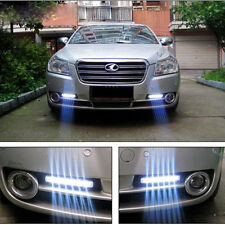 2x 12V DC Car Super Daytime Running Light 8 LED DRL Daylight Head Lamp White