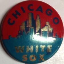 1964 Vintage Chicago White Sox Illinois Baseball 3/4 Inch Pin Pinback Crane