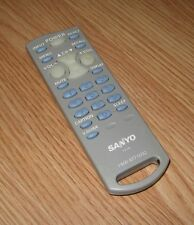 Genuine Sanyo (FXTB) Light Gray TV Remote Control With Battery Cover **READ**