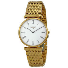 Longines La Grande Classique White Dial Yellow Gold Plated Ladies Watch