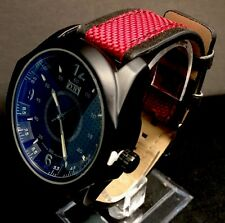 Men's Mark Naimer Watch Red Band Black Dial AR Coated Glass