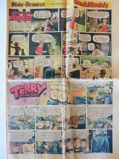 VTG 1953 LIT ORPHAN ANNIE THE LONE RANGER MORE! SUNDAY FUNNY PAPER COMIC SECTION