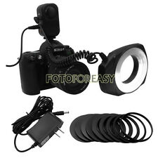 Macro Close-Up O Ring 48-LED Continuous Flash Light for Canon Nikon Sigma Lens