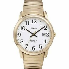 Timex T2H301, Easy Reader, Men's, Goldtone Expansion, Indiglo, T2H3019J