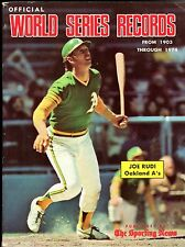 1975 Official World's Series Records from 1903-1974, Team Photos: A's & Dodgers