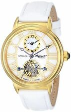 NEW Ingersoll IN5004GWH Women Baton Rouge Watch Analog Automatic White/Gold Case