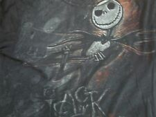 JACK SKELETON Pumpkin King Dark Black Sketch T Shirt Men's Size S
