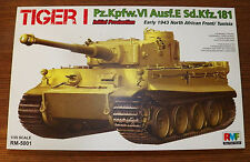 Rye Feild Early WWII Tiger I Pz. Kpfw. VI Afrika Corps Plastic Model Tank 1/35