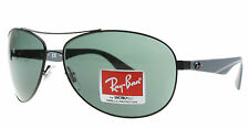 New Ray Ban Sunglasses Men Aviator RB 3526 Matte Black 006/71 RB3526 63mm