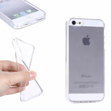 For iPhone 5 5S CLEAR Transparent TPU Silicon Gel Case Cover *FREE Screen Guard*