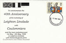 (26661) GB Cover Leighton Linslade Coulommiers Twinning - Leighton Buzzard 1988