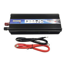 2000W Power Inverter Car DC12V toAC 110V Modified Sine Wave Converter Adapt
