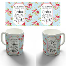 YOU MEAN THE WORLD MUM MOTHERS DAY COFFEE MUG TEA CUP BIRTHDAY CHRISTMAS GIFT