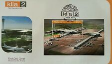 New Airport KLIA 2 Malaysia 2014 Airplane Transport (FDC) Unusual Road Surface