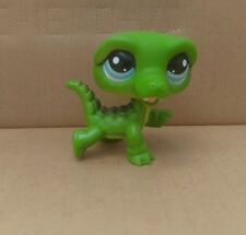 Littlest Pet Shop Alligator Crocodile #987 Green Aqua Blue Eyes 100% Authentic