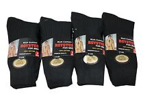 12 PAIRS MENS 100% COTTON  SOCKS 6-11 BLACK