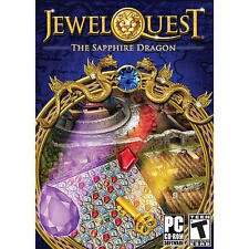 Jewel Quest The Sapphire Dragon  Solve over 200 jewel board puzzles  Brand New
