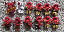 MIGHTY MORPHIN POWER RANGERS SAMURAI MEGA BLOKS MOOGLE DEKER XANDRED LOT OF 12