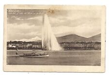 genève  , le jet d'eau de 90m et le mont-blanc