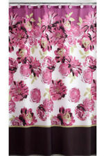 "Clara Pink Purple Floral Fabric Shower Curtain 70"" x 72"" Mainstays Polyester"