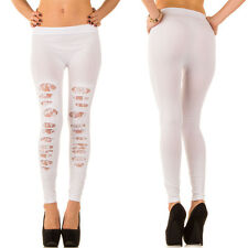 LADIES WOMENS SEXY LEGGINGS CUT OUTS FASHION STRETCHY NEW 93127 WHITE