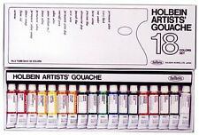 Paints Holbein Artist Gouache Set : 18 x 5ml tubes