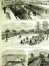 Central Southern Pacific Railroad OAKLAND SAN FRANCISCO Goat Island 1878 Art Mat