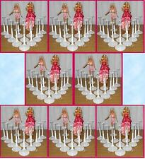 FREE U.S. SHIPPING 100 White Kaiser BARBIE Doll Stands Fashion Royalty Momoko