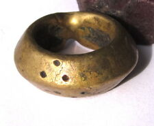 RARE OLD SOLID BRASS ETHIOPIAN WEDDING RING 12mm x 30mm