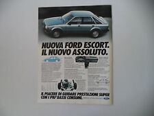 advertising Pubblicità 1980 FORD ESCORT