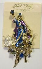KIRKS FOLLY GOLD MERLIN'S MAGIC WIZARD PIN NWT