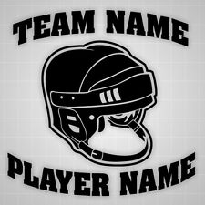 Hockey Helmet wall decal personalized sticker,team name Hockey helmet sticker