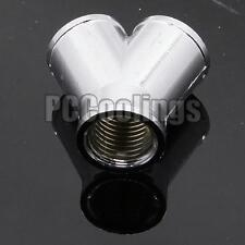 3 Way Spliter Fitting Female Y G1/4 Threaded Copper Chromed For PC Water Cooling