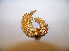 Vintage Abstract Gold Tone Brooch