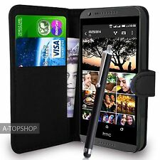 Black Wallet Case PU Leather Book Cover For  HTC DESIRE 620 620G Mobile