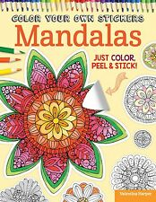 COLOR YOUR OWN STICKERS MANDALAS-Adult Coloring Craft Book-Zentangle Designs