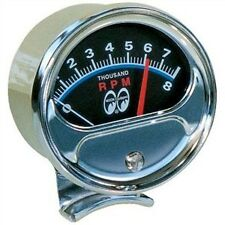 MOON HALF SWEEP TACHOMETER  GAUGE MOONEYES  SCTA HOT ROD BOBBERS