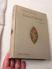1898, The Beautiful Life of Frances E Willard, Anna Gordon, Memorial Edition