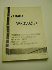 YAMAHA WR250 Z F 1994  OFFICIAL OWNERS  SERVICE  MANUAL