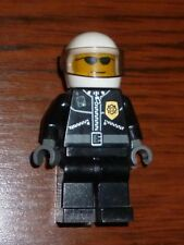 Lego Minifigura-cty006-Policial-Ciudad Chaqueta De Cuero C / Placa Gafas De Sol