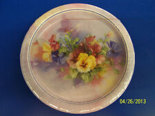 "Paintbox Pansies Pansy Floral Garden Bridal Wedding Party 7"" Dessert Plates"