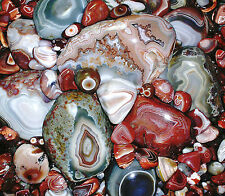 Collector's 'LAKE SUPERIOR AGATE AGATES' Gemstone Magnet 'BEAUTIFUL' jgspanglers