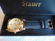 Stauer 44mm Valeo 18K Brushed RG Fused SS Case & High Polished SS Bezel Watch